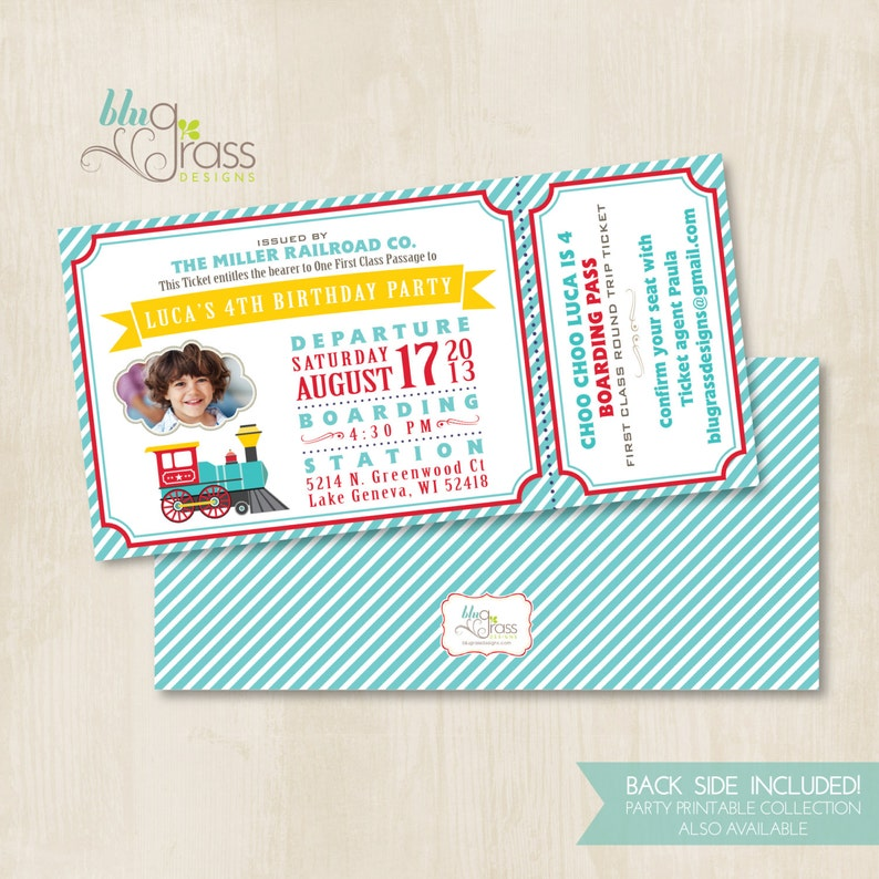Custom Birthday Party Invitation by Mulberry Paperie  Choo image 0