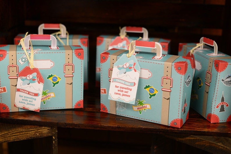 DIY Printable Suitcase Favor Box by BluGrass Designs  image 0