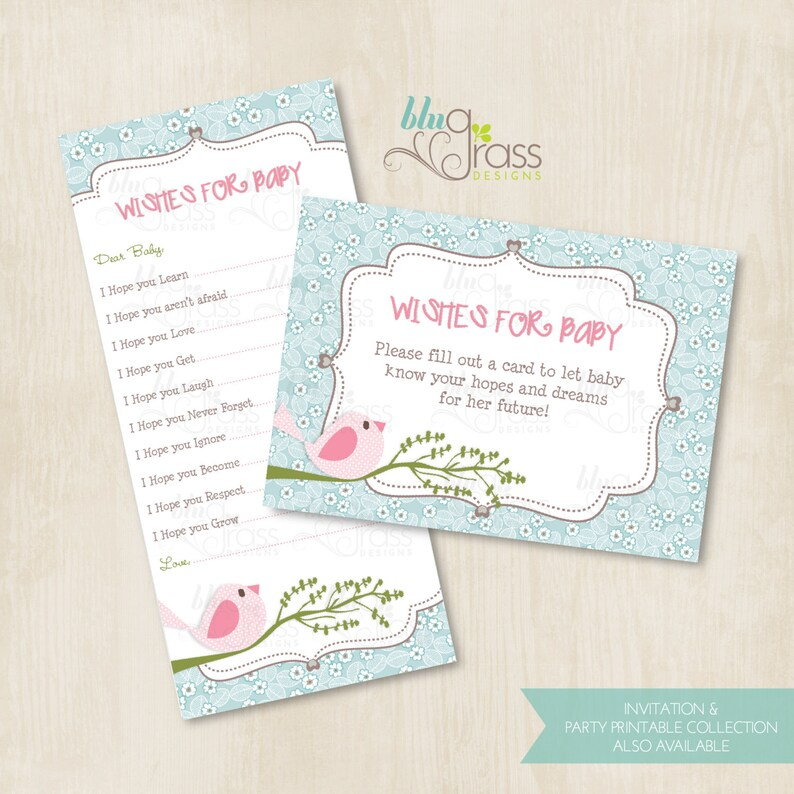 Wishes for Baby Baby Shower Card byBluGrass Designs  Cute image 0