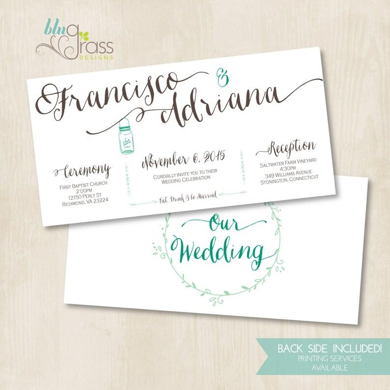 Custom Bridal Shower Wedding Invitation by BluGrass Designs  image 0