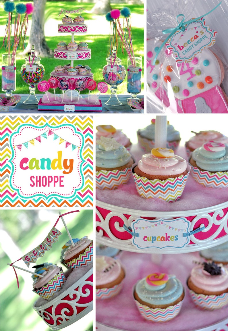DIY printable birthday party package  candy shoppe image 0