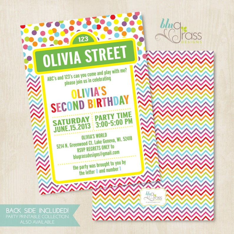 Custom Birthday Party Invitation by Mulberry Paperie  sesame image 0