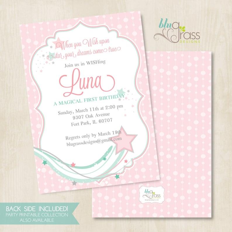 Custom Birthday Party Invitation Baby Shower Invitation by image 0