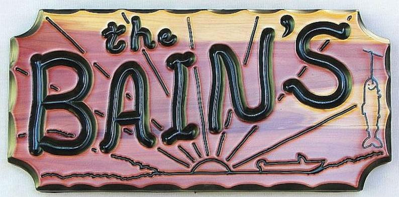 "CEDARCUTTS Custom Carved Wood Sign 6/"" x 20/"" x 1/"" Rustic South West Style Cedar"