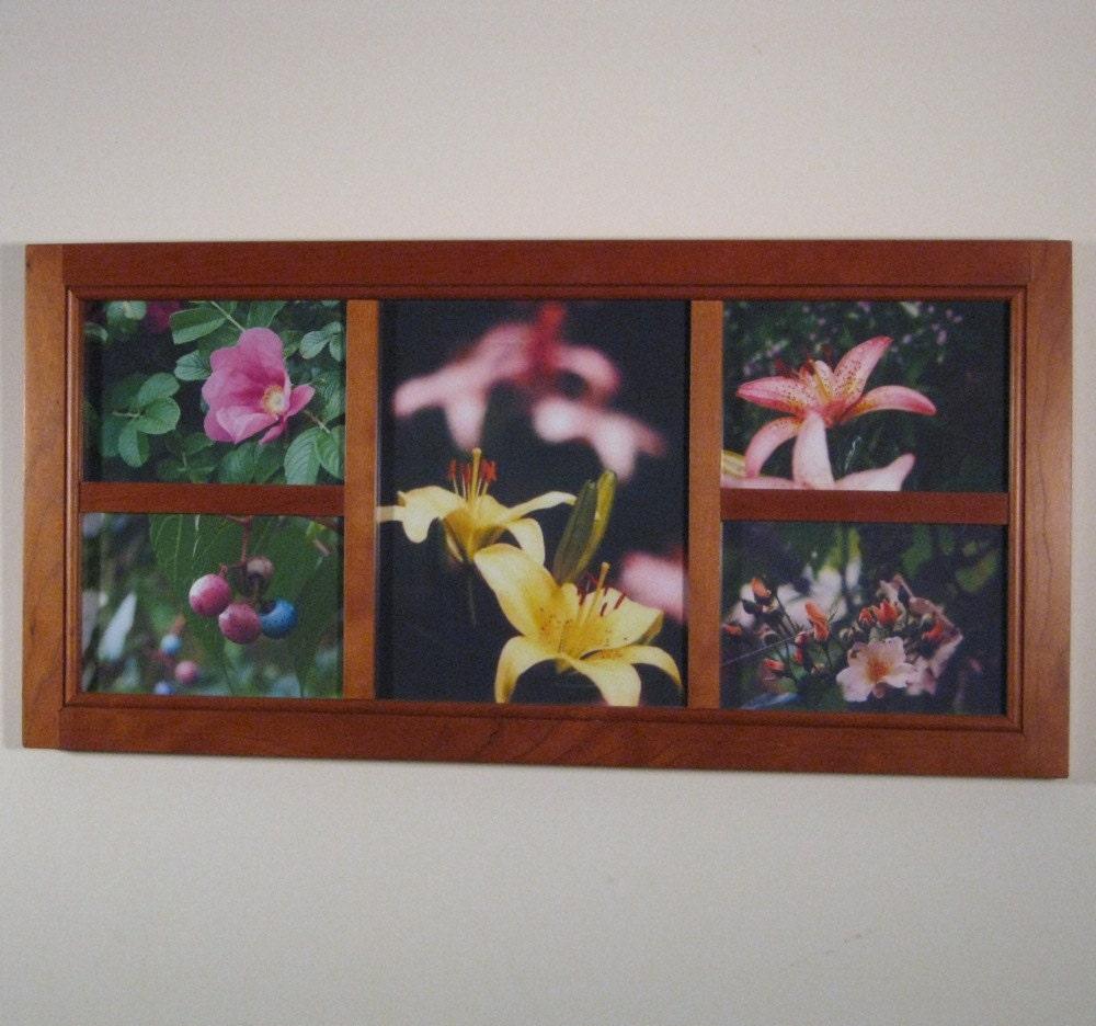Verzahnung von Kirsche Collage-Rahmen 4 5x7s 1 8 x 10 | Etsy