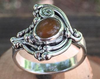 c95776f43952 Anillo de plata sterling con opalo