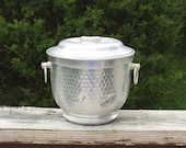 Ice Bucket Silver Bucket Hammered Metal Made In Italy