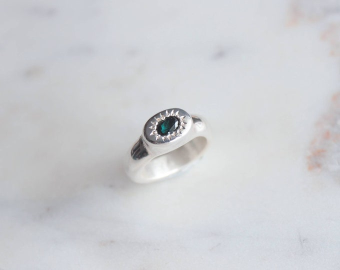 Featured listing image: Blue Green Tourmaline Ring