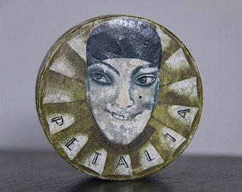 Rare French Antique 1920s Flapper Era Parisian Box, Pierrot