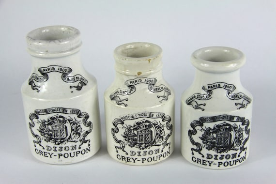 French antique mustard pots on Etsy.