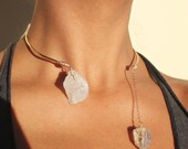 14K Gold Fill Angel Aura Quartz Crystal Choker