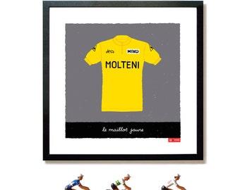Yellow Jersey Print, Tour de France Poster, Cycling Print, Eddy Merckx