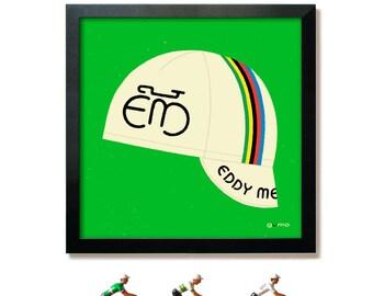 Eddy Merckx, Bike Art, Cycling Cap Print
