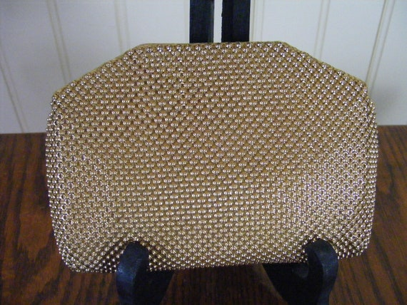 Whiting and Davis 1930s Mesh Clutch Mini Bullet To