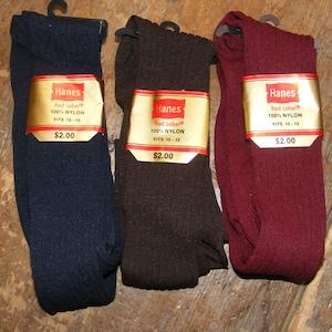 40s 50s Vintage Brown Nylon Interwoven Mens Brown Dress Socks Hosiery Reiforced Cotton Heel /& Toe 11.5