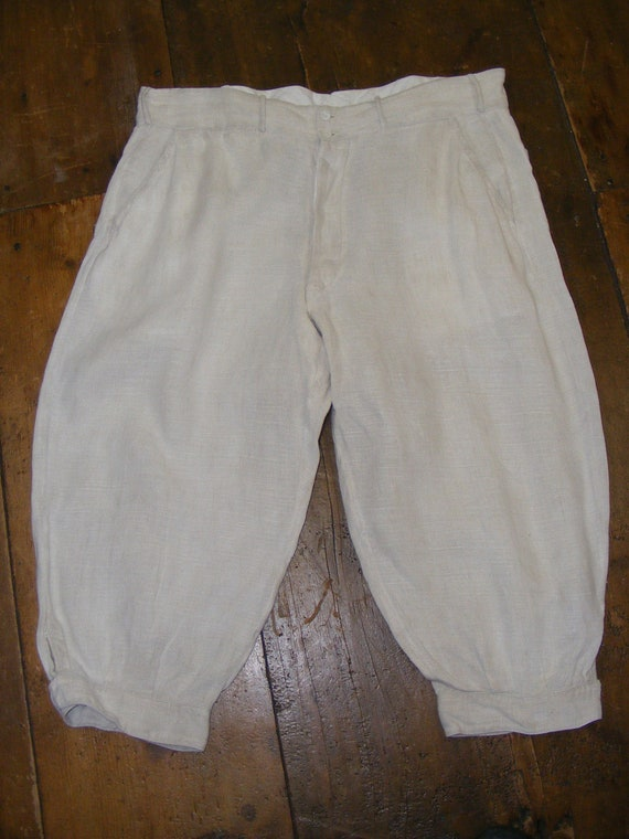 Edwardian Mens Linen Knickers c.1910 Mens Pants Tr