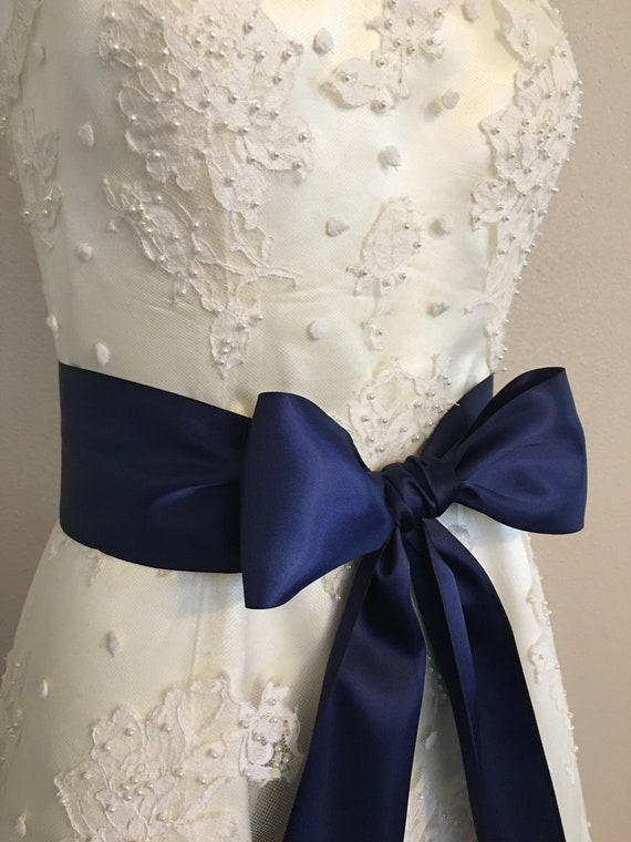 Violet Satin Mariage Soirée Robe fantaisie Ruban Sash Ceinture Cravate Bande Demoiselle D/'Honneur Bow