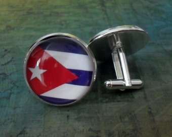 Cuba map cufflinks anniversary or wedding gift for groomsmen Cuban heritage gift Father/'s Day gift for Dad Cuba cufflinks