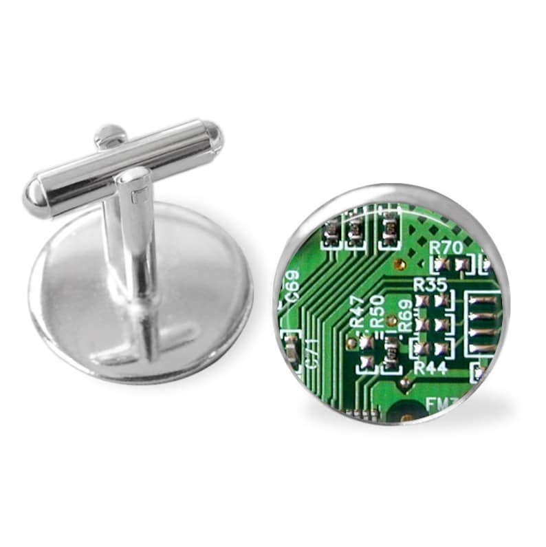 CIRCUIT BOARD Cufflinks  Computer Cuff Links   Motherboard  Gift For Gamer  Computer related gift  Geek gift  3 colours  Gift boxed