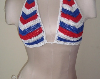 4th of July RED, WHITE, & BLUE Crochet Bathing Suit