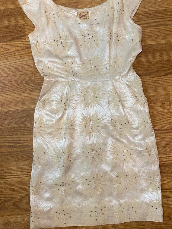 1950s starburst wiggle dress - image 8