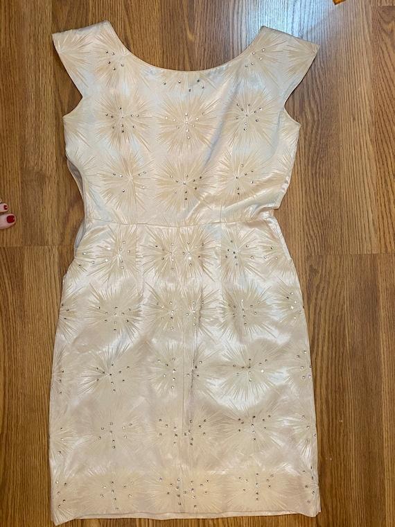 1950s starburst wiggle dress
