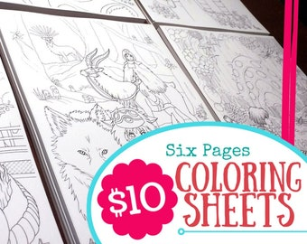 Anime coloring book | Etsy