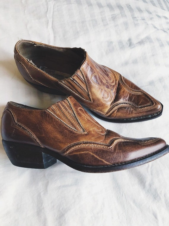 Vintage 90s GUESS Marciano western cowboy mules bo