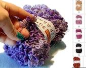 Fancy Fuzzy Yarn Super Astrakhan Astrachan scarf novelty yarn, variegated. Multicolor. Art yarn, wool blend, knitting yarn Color Choice DSH
