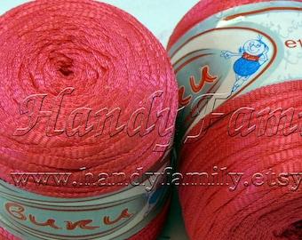 Viscose Yarn: silk band shining hot pink, spring / summer yarn Vicky
