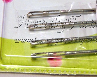 Double Eye Needles 4 pieces Hand Sewing Needle. Handknits sewing needle.  Embroidery needle. Ribbon embroidery. 3D embroidery. DSH(P1Al)