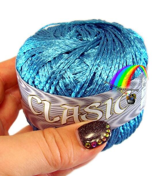 yarn 7551  02 summer yarn Light Peas Mossy Green Viscose Silk Yarn Koprina Silk Classic