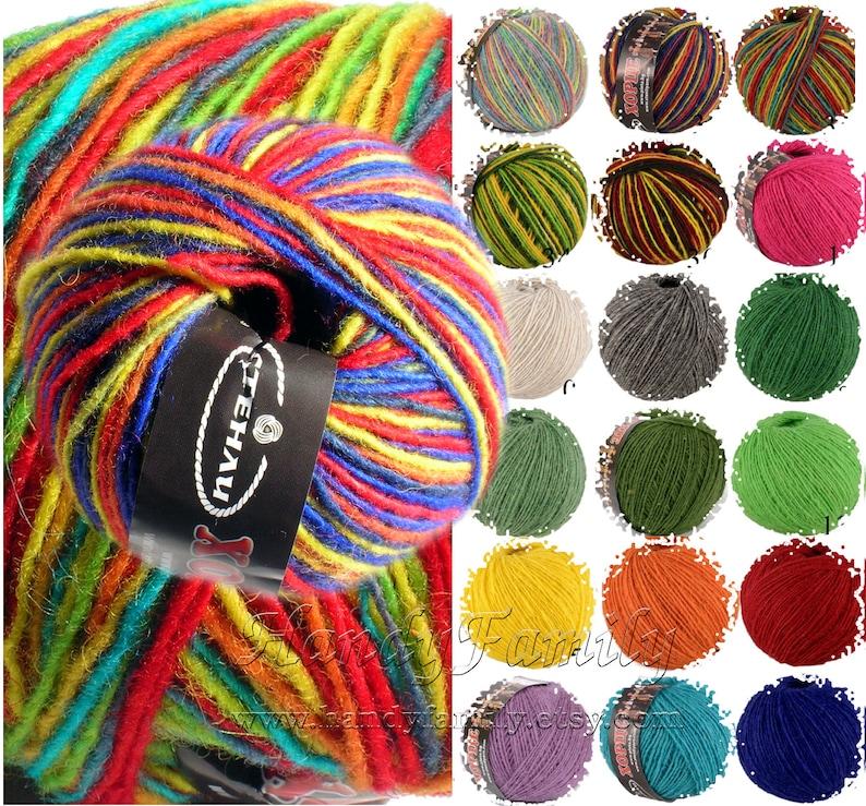 Natural Sheep Wool yarn HORCE Color choise DSH hortse Winter wool yarn Farm wool Sheep wool yarn Eco wool