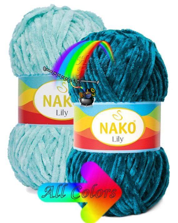baby blanket yarn crochet yarn Nako Lily New yarn baby Yarn Knitting baby baby yarn velvet yarn