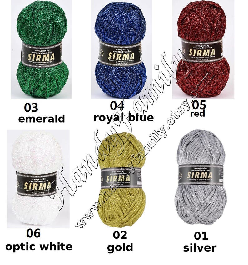 Glitter yarn Sirma strip yarn band yarn Trim Yarn Lurex Lame Sparkle yarn metal yarn Brocat bling yarn glitz summer yarn ribbon yarn DSH