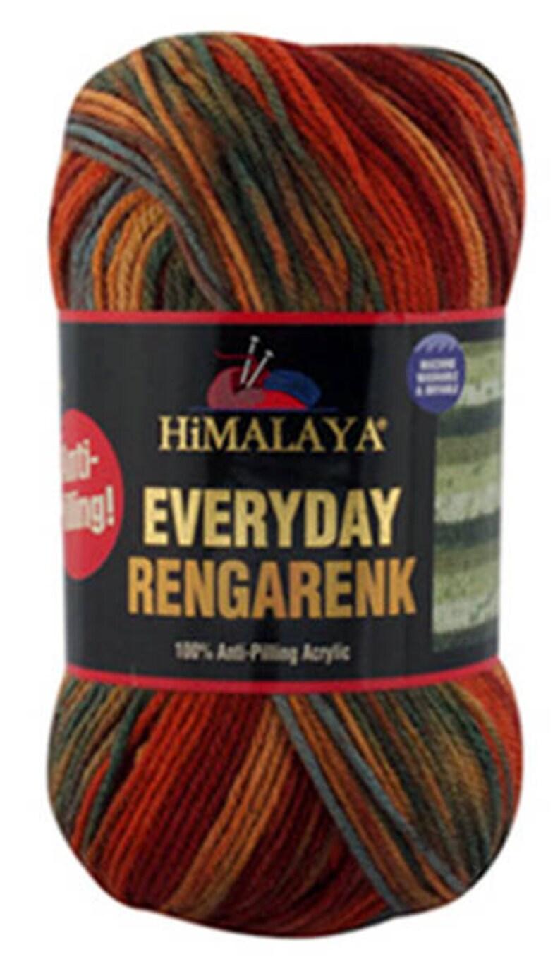 Himalaya EVERYDAY RENGARENK anti-pilling hypoallergenic yarn newborn yarn preemie hat yarn Baby Batik yarn selfstriping Color choice DSH