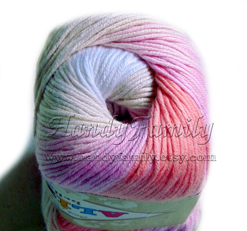It's A Girl Cotton Baby Yarn Light Weight Natural