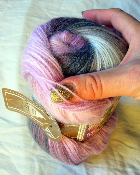 ALIZE BURCUM BATIK ARAN KNITTING YARN multicolour pink grey  5 x 100g 1602