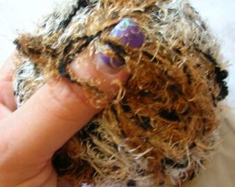 Bulky yarn Sevilia novelty European warm scarf yarn, earth colors, fuzzy, double thread, bulk plus eyelash. 30% OFF!
