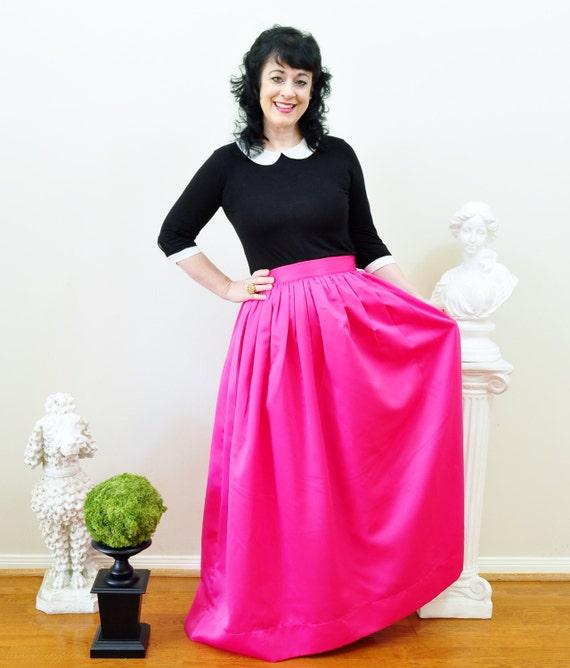Pink Duchess Satin Custom made Ball Gown Skirt long full   Etsy
