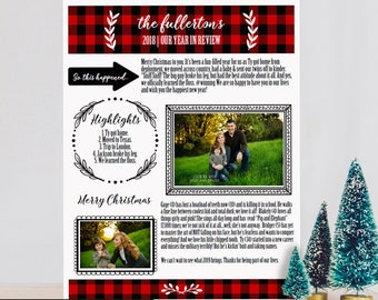 Christmas Newsletter Etsy
