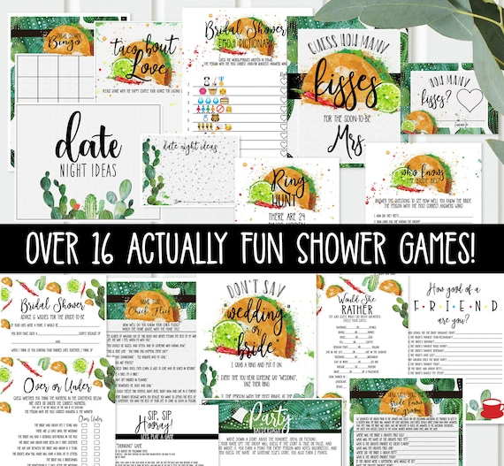 photo relating to Fun Printable Games called Fiesta Bridal Shower Video games - More than 16 - printable - Literally