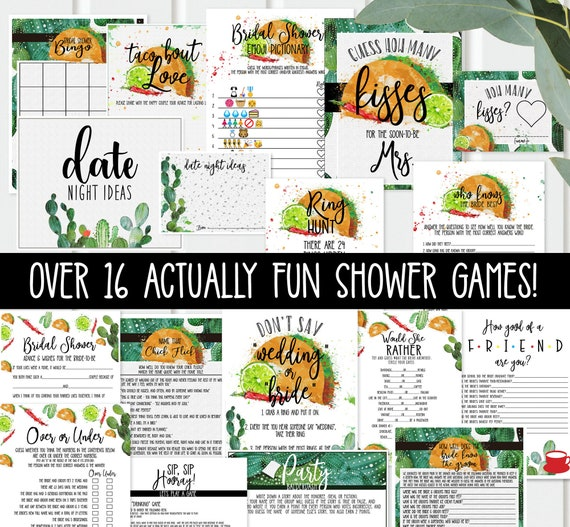 photo relating to Fun Printable Games referred to as Fiesta Bridal Shower Video games - Around 16 - printable - Pretty much