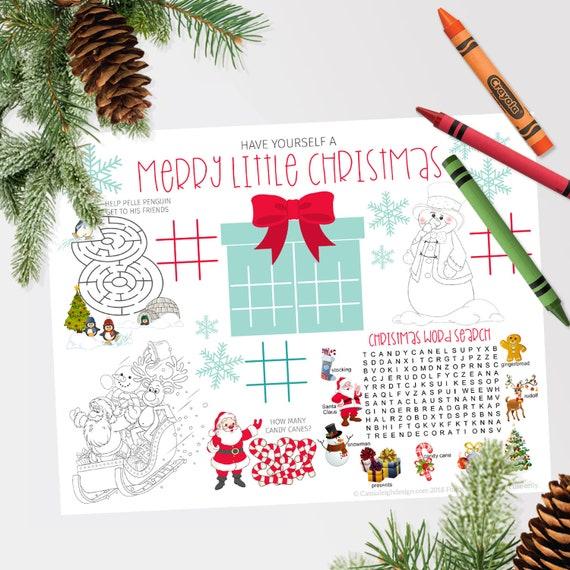 12 Free Printable Christmas Activity Pages for Kids | Christmas ... | 570x570
