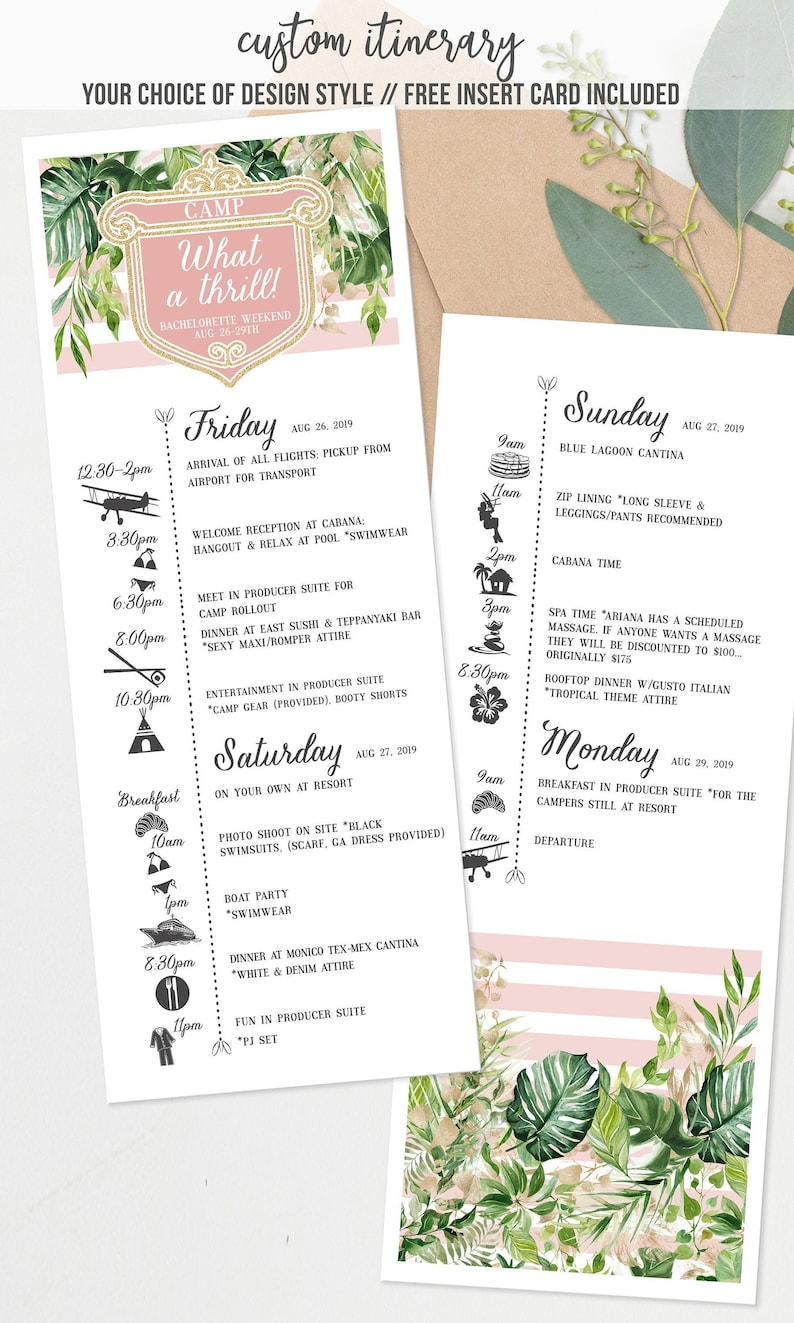 Itinerary Glamping Troop Beverly Hills  Bridal Shower  image 0