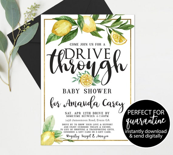 Lemons Baby Shower Pregnancy Chalkboard Printable  Drive Thru Parade Shower Decoration  Baby Shower Gift  Download Instantly  LM33