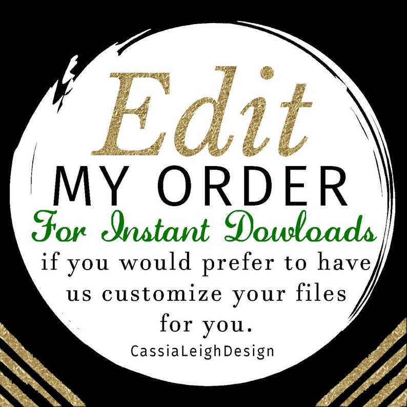 EDIT my instant download order for me  Turn any self-edit image 0