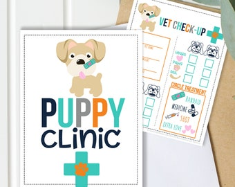 Puppy Clinic Vet Check Up Game for Kids - Boys and Girls - Instant Download