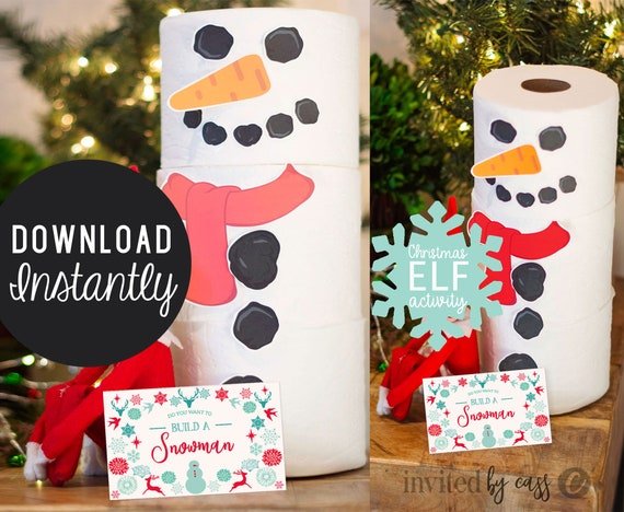 Build A Snowman Elf Activities Elf Activity Ideas Elf Printables Elf Christmas Kit Printable Elf Activity Kit Instant Download By Cassia Leigh Design Catch My Party