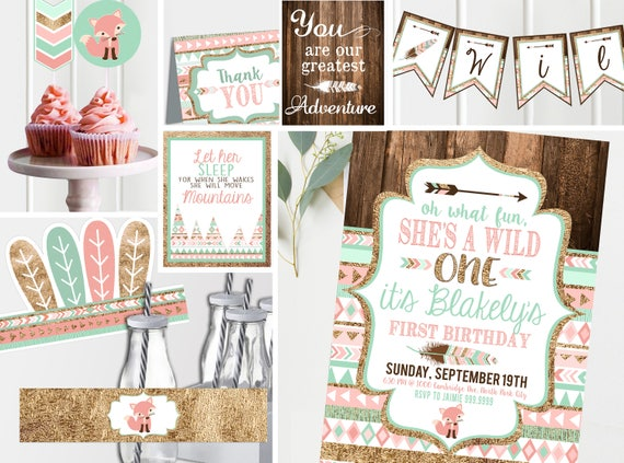 photograph regarding Etsy Printable Invitations referred to as Wild Just one Crimson Initially Birthday Invitation - Printable Invitations and Decor - Tribal To start with Birthday - Wild 1 Birthday- Package Prompt Down load